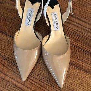 Tan kitten heels